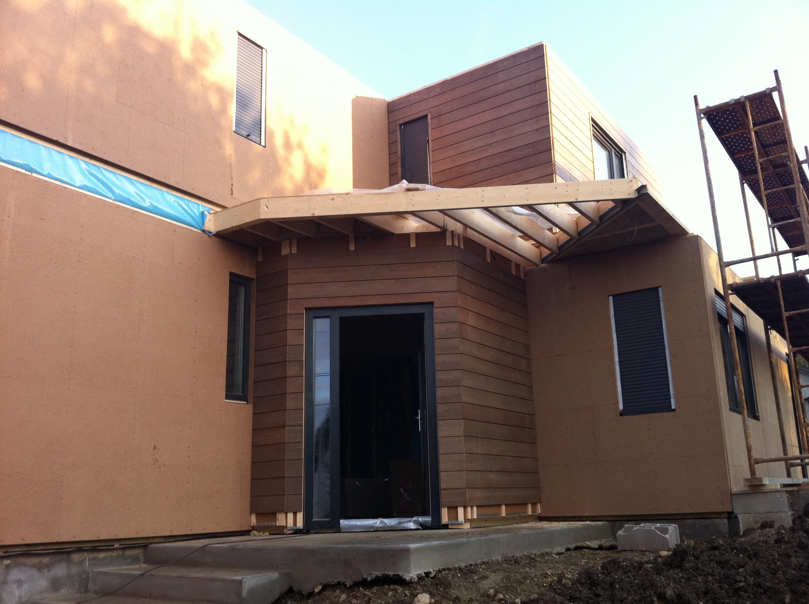 Maison ossature bois contemporaine lagny sur marne for Maison ossature bois marne