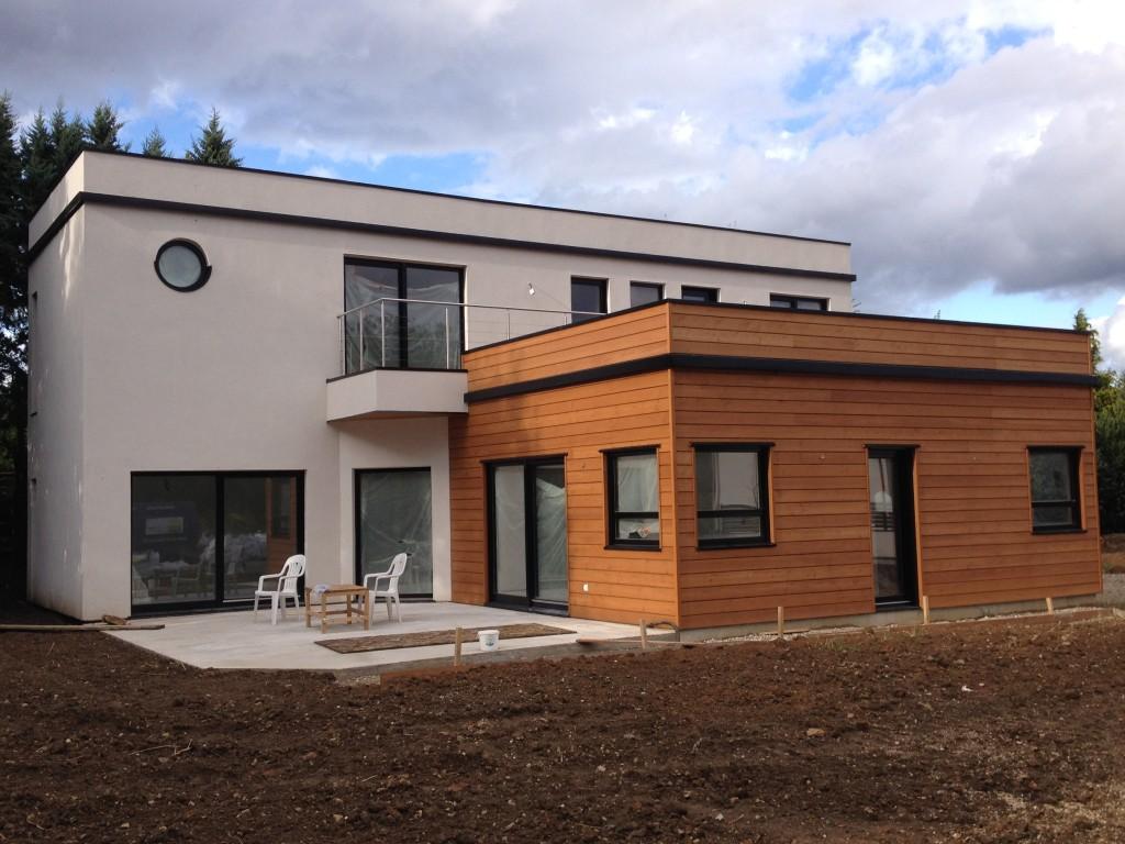 maison à ossature bois et toiture végétalisée » Villecresnes»